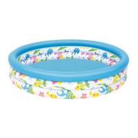 Detský bazénso vzorom rybiek Bestway 122 x 25 cm -51009