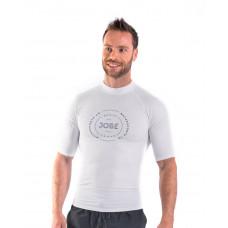 Pánske tričko do vodyJOBE RASH GUARD SHORTSLEEVE WHITE