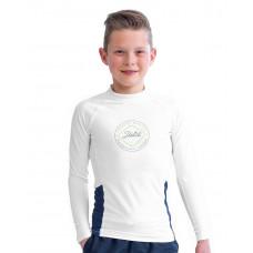 Detské tričko do vody JOBE LONGSLEEVE YOUTH WHITE