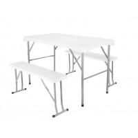 Skladací stôl s lavičkami Malatec -SO9998