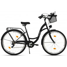 """Mestský retro bicykel 7-prevodový LUX MILORD 28 """" čierny"""