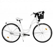 """Mestský retro bicykel 1-prevodový LUX MILORD 28 """" biely"""