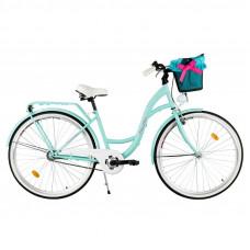 """Mestský retro bicykel 1-prevodový LUX MILORD 28 """" modrý"""