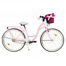"""Mestský retro bicykel 1-prevodový LUX MILORD 26 """" - ružový"""