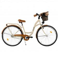 "Mestský retro bicykel 1-prevodový LUX MILORD 28 "" cappuccino"