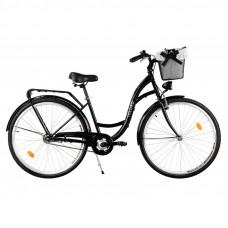 """Mestský retro bicykel 3-prevodový LUX MILORD 28 """" - čierny"""