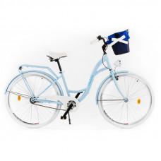 """Mestský retro bicykel 1-prevodový LUX MILORD 28 """" svetlomodrý"""