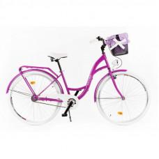 """Mestský retro bicykel 1-prevodový LUX MILORD 28 """" fialový"""