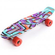 Pennyboard Multikolor Graffiti 22604 - fialový