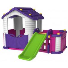 Domček pre deti so šmykľavkou 3 v 1 RAMIZ CHD-354 - fialový