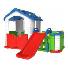 Domček pre deti so šmykľavkou 3 v 1 RAMIZ TB-303 - modrý