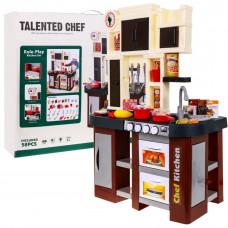 Interaktívna kuchynka s príslušenstvom Kitchen - hnedá
