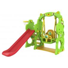 Detská šmýkačka a hojdačka + basketbalový kôš 3 v 1 RAMIZ CHD-171