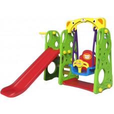 Detská šmýkačka a hojdačka + basketbalový kôš 3 v 1 RAMIZ CHD-101