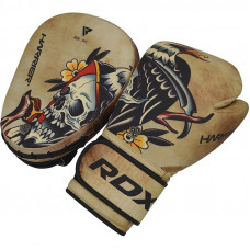 Set RDX T14 Harrier Tattoo rukavice + lapy + vrecko