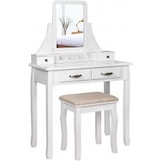 Toaletný stolík biely Songmics - RDT012WT