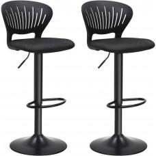 Barové stoličky 2 ks SONGMICSLJB04BK