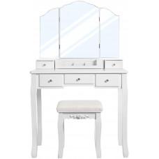Toaletný stolík VASAGLE biely - RDT28WT