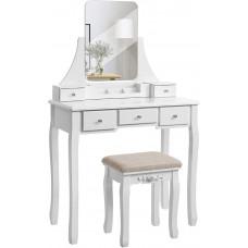 Toaletný stolík VASAGLE s veľkým bezrámovým zrkadlom - RDT25WT