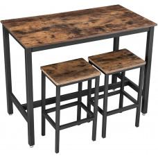 Barový stôl so stoličkami VASAGLE LBT15X