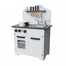 Detská drevená kuchynka DELUXE WHITE -W10C297
