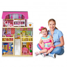 Drevený domček pre bábiky Sapphire Sk-02