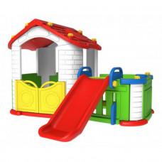Domček pre deti so šmykľavkou 3 v 1 RAMIZ CHD-803 - červený