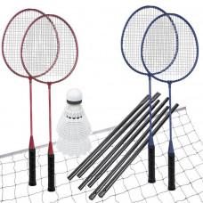 Spokey FUN START-Sada na badminton, 4 rakety,sieť+rám,loptičky