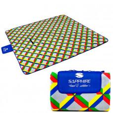 Pikniková deka SAPPHIRE 200 X 200 CM - kvadraty