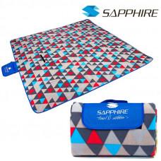 Pikniková deka Sapphire 200 x 200 cm - trojkaty