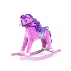 Interaktívny hojdací kôň Sapphire Kids - fialový