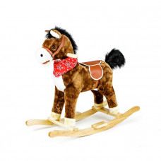 Interaktívny hojdací kôň SAPPHIRE KIDS -  tmavohnedý