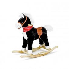 Interaktívny hojdací kôň SAPPHIRE KIDS - čierny