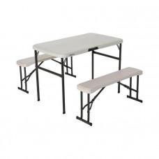 Zostava 2 lavičiek + stola LIFETIME 80352 - biela