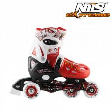 Detské kolieskové korčule Nils Extreme NJ0320A-červené