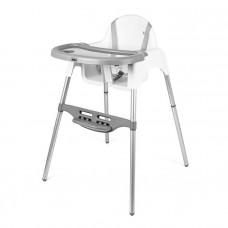 Detská jedalenská stolička Mini SMILE - biela