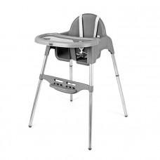 Detská jedalenská stolička Mini SMILE - šedá