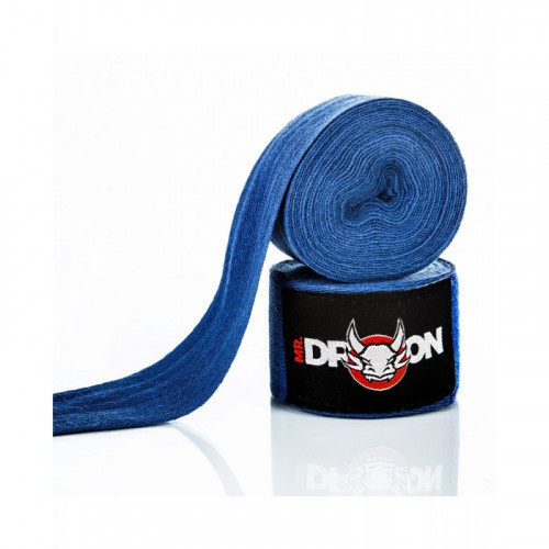 Boxerské bandáže Mr.Dragon 450 cm - modré