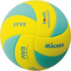 Volejbalová lopta MIKASA SYV5 YLG -zelená