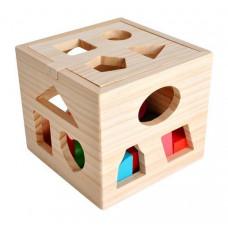 Edukačná drevená kocka Kruzzel