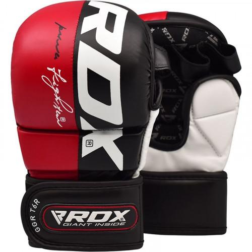 Rukavice RDX T6 MMA Sparring - červené