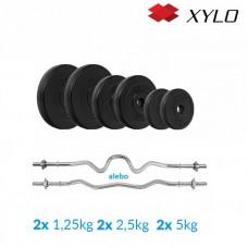 Nakladací činkový set Xylo solid 25 KG