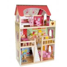 Drevený domček pre bábiky Kruzzel D11252