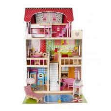 Drevený domček pre bábiky Kruzzel D11251
