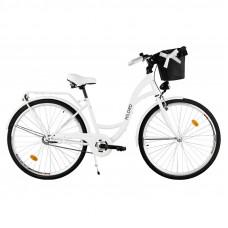 """Mestský retro bicykel 3-prevodový LUX MILORD 28 """" - biely"""