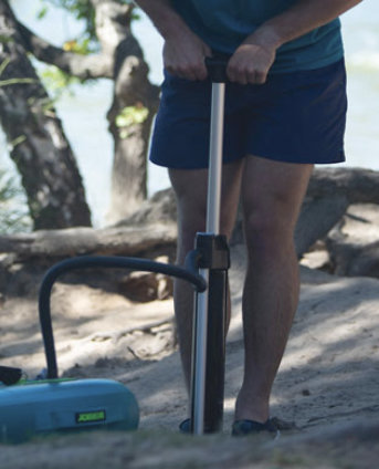 dvojcinna pumpa Jobe na nafukovanie Paddleboardov